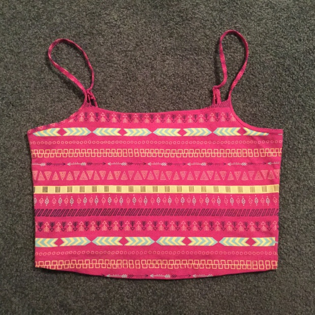 Crop Top Arrow Print