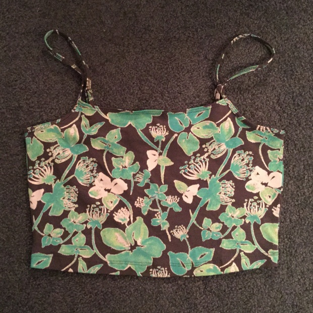 Crop Top Floral Lime