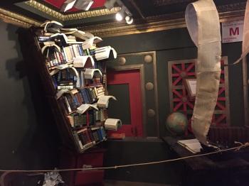 Flying bookshelf