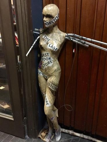 The Last Bookstore Mannequin