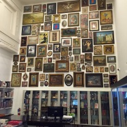 Wall of paintings