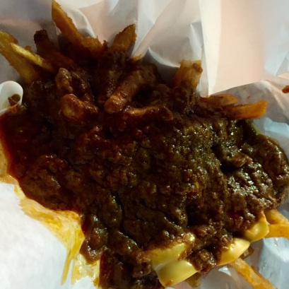 Chili cheese fries from Pinks. My favorite!