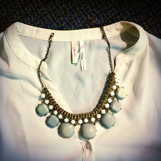 Grey and white necklace