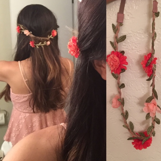 Flower headband braid