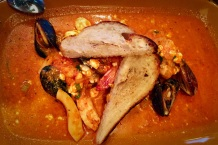 Delicious flavors. Shrimp, Mussels, Sepia, Bass, Tomato and Feta