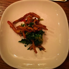 I thought the fried pig ears were onion straws!