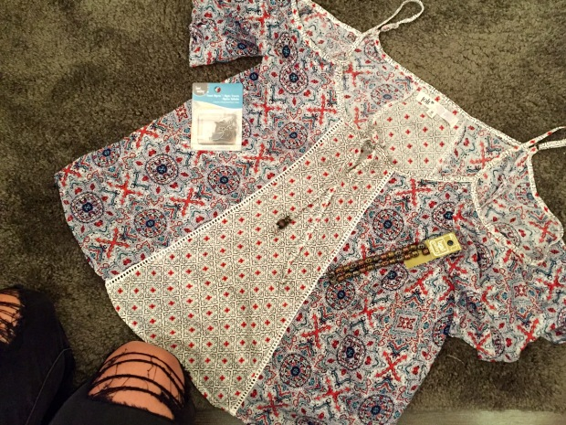 Front tie shirt beading DIY