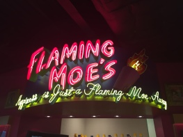 Flaming Moe's Sign