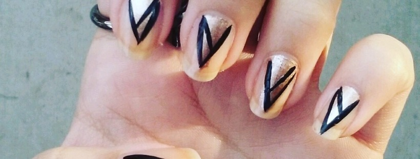 Diy Art Deco Nail Design Curlsxoxo