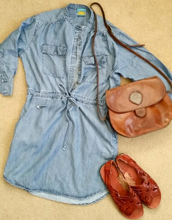 Blue Jean Dress and Accessories