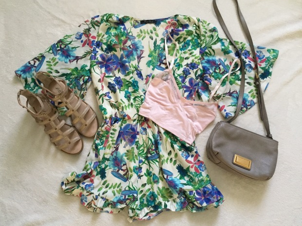 Floral Romper Outfit and Accessories