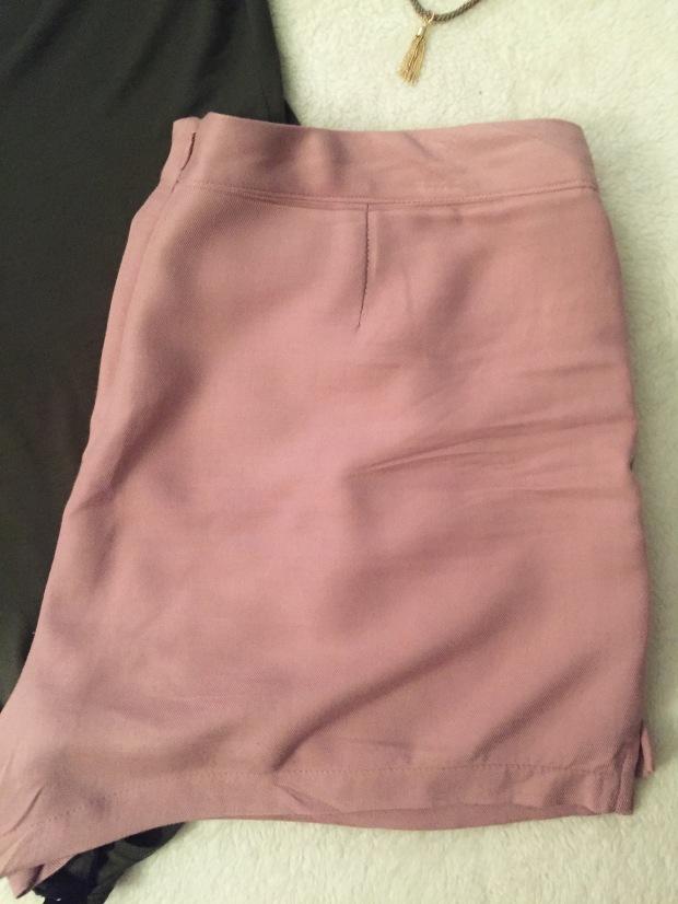 Pink blush shorts
